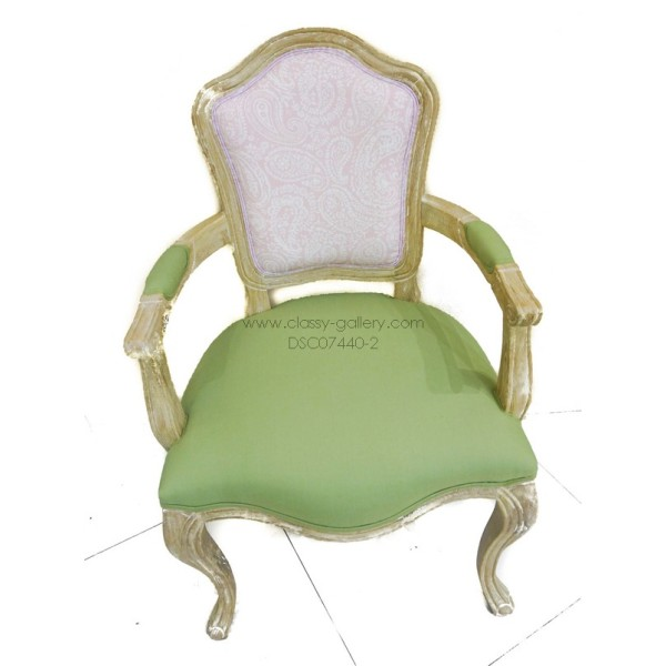 [PHDC1013B] كرسي من خشب الأوك وقماش الكتان