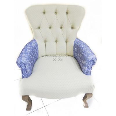 [PHAC1088] كرسي من خشب الأوك وقماش الكتان