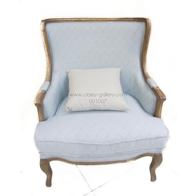 [PHAC1087] كرسي من خشب الأوك وقماش الكتان