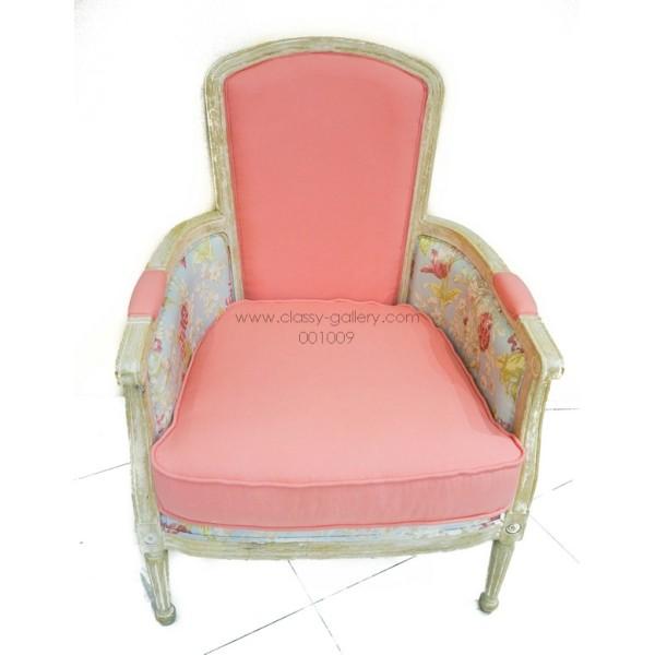 [PHAC1099] كرسي من خشب الأوك وقماش الكتان