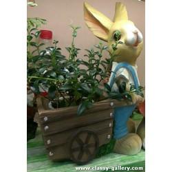 ارنب مع عربة