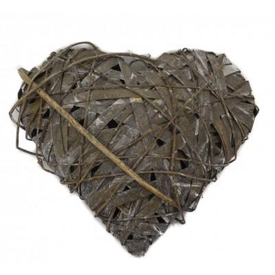 طوق خيزران خشبي بشكل قلب