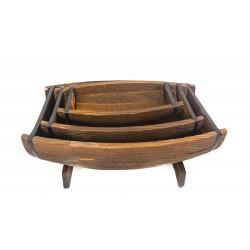 احواض خشبة طقم