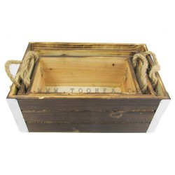 مجموعة صناديق خشبية عدد 3