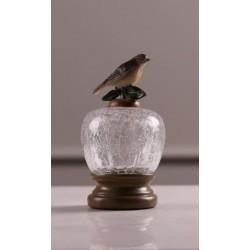 علبة زجاج مع طائر