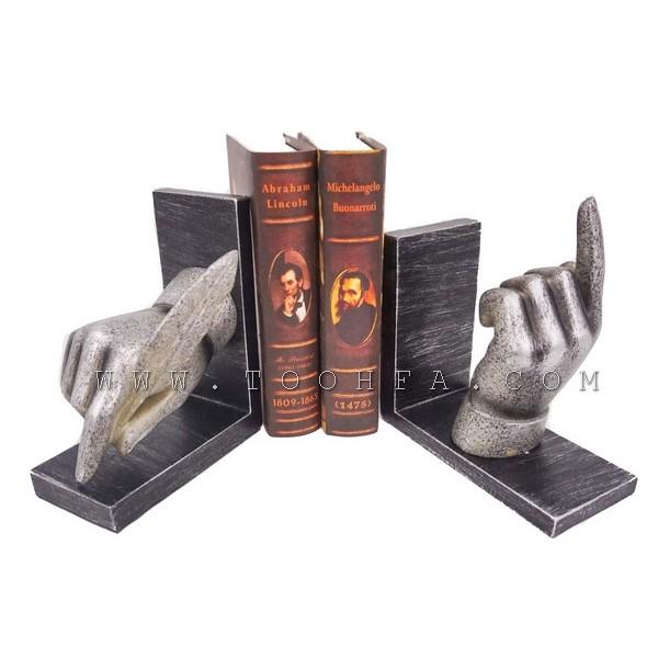 ديكور مسندة كتب بشكل يدين
