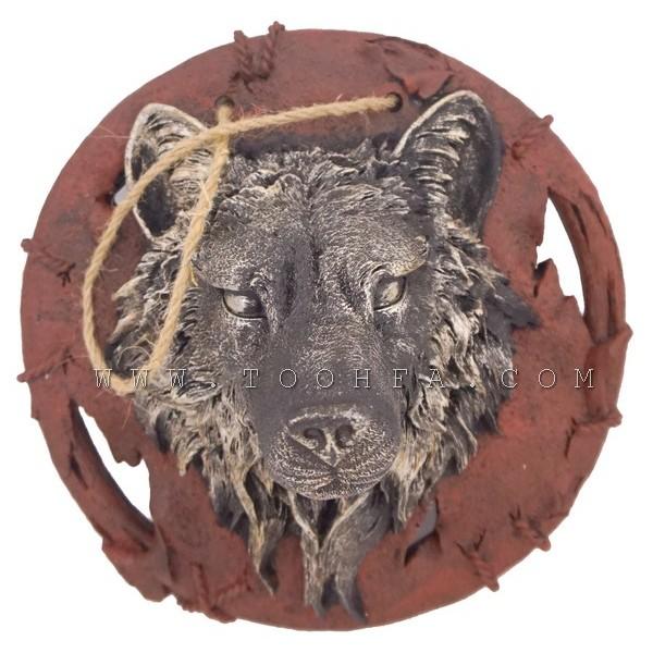 ديكور جداري بشكل رأس ذئب