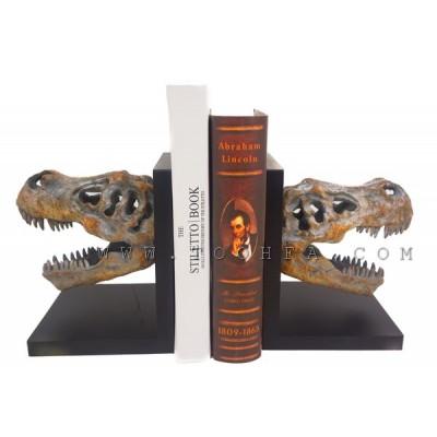 مسندة كتب بشكل ديناصور