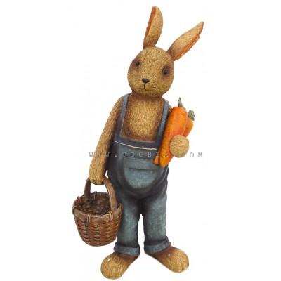 ديكور بشكل أرنب يحمل سلة