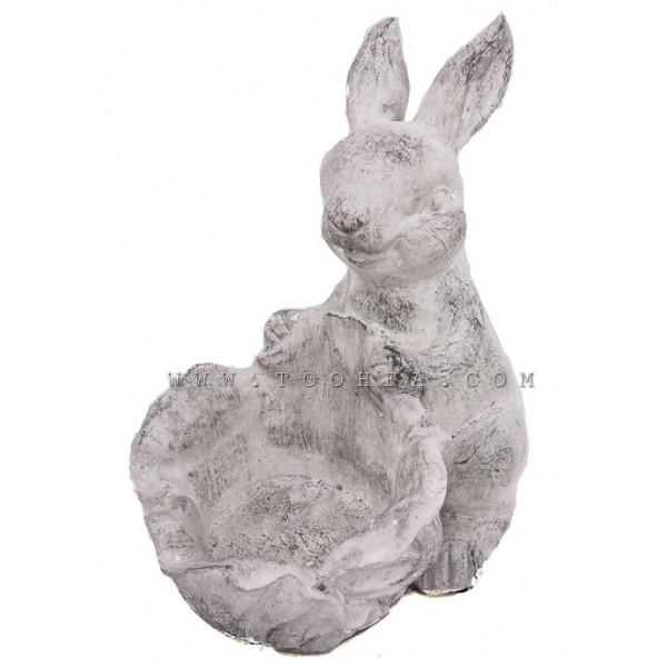 ديكور فازة -حوض مركن بشكل ارنب