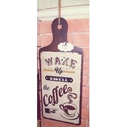 لوحة ركن القهوة خشبة