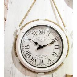 ساعة جدارية لون أبيض