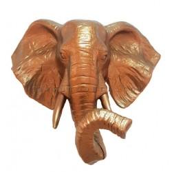 رأس فيل بلون نحاسي