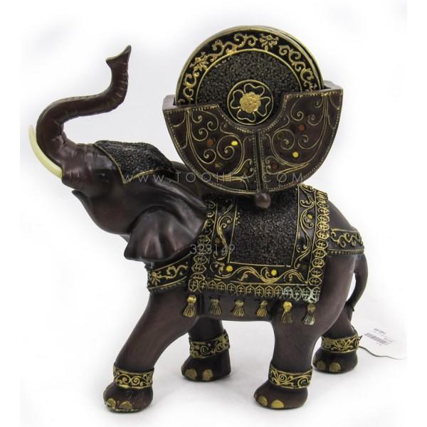 تحفة على شكل فيل لون ذهبي