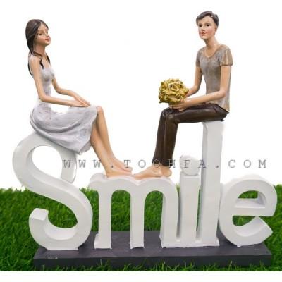 تحفة طاولة كلمة Smile