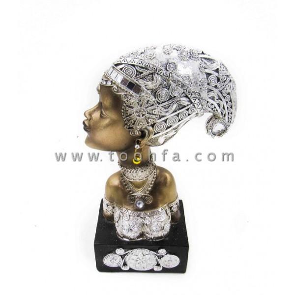 تمثال المرأة الأفريقية مقاس 15.5*8*25.5