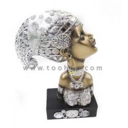 تمثال المرأة الأفريقية مقاس 22*9.5*31