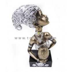 تمثال المرأة الأفريقية مقاس 22*10*32.5