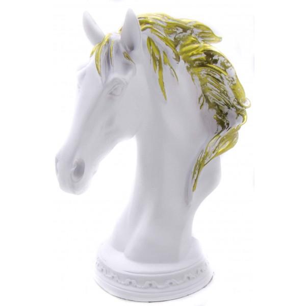 ديكور طاولة رأس حصان - أبيض. المقاس :20*12.5*26