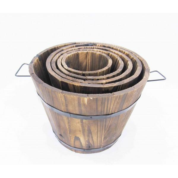 أصايص زراعية خشبية. المقاس :30*23*23.5,25*19*20,20*15*18,17*13*14.5,13*10.5*11.5