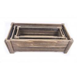 أحواض زراعية خشبية. المقاس :50*23*17.5  44*19*13 38*13.5*12