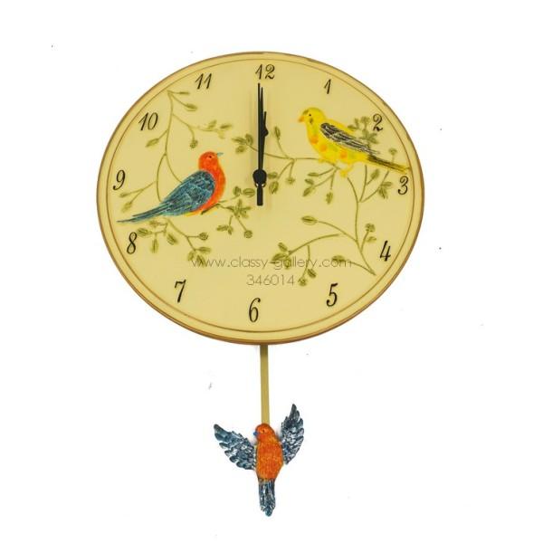 ساعة حائط برسوم عصافير