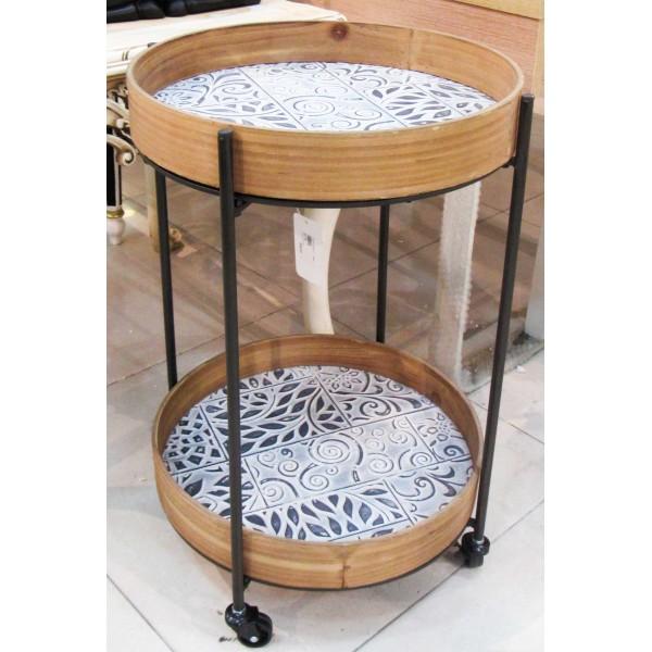 طاولة تقديم بعجلات