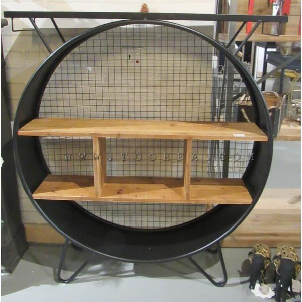 طاولة معدنية خشبية
