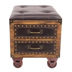 صندوق وكرسي جلدي