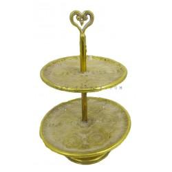 طبق تقديم ذهبي على شكل قلب