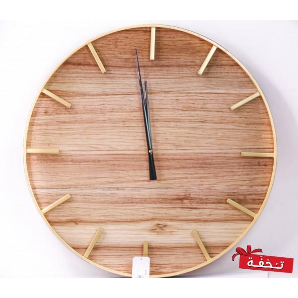 ساعة حائط خشبية