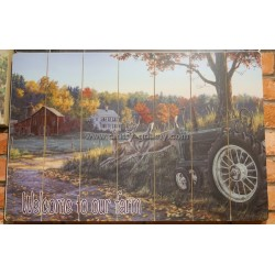 لوحة جدار خشبة