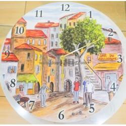 ساعة جدار خشبة