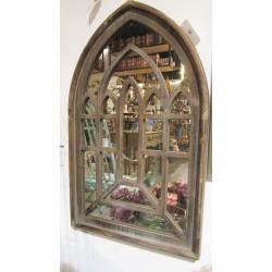 مرآة بشك نافذة خشبية 80*50