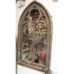 مرآة بشك نافذة خشبية 70*40