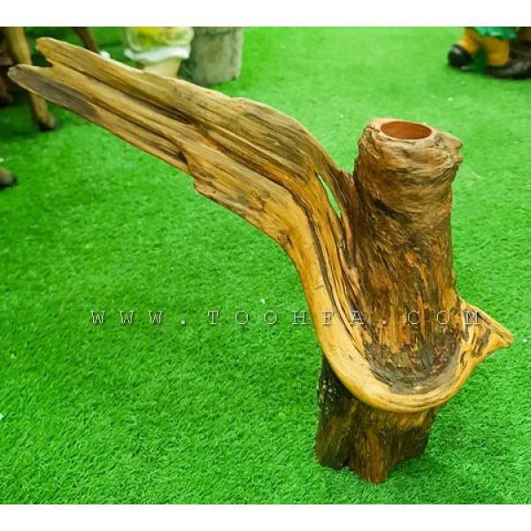 حوض شجر من الخشب الطبيعي