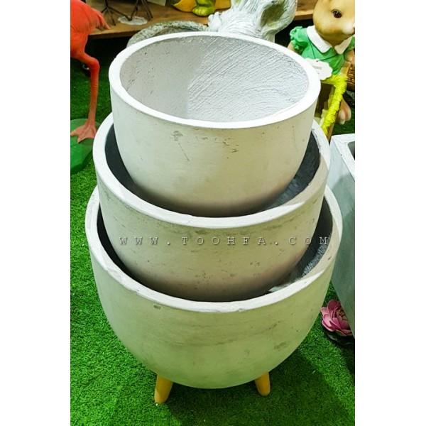 طقم احواض زراعية اسمنتية عدد 3