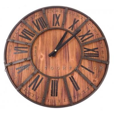 ساعة جدار طراز صناعي