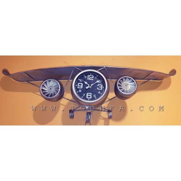 ساعة جدارية بشكل طائرة