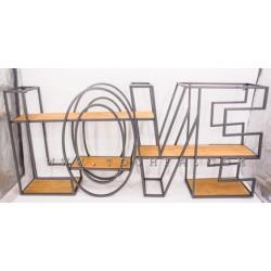 رف جداري بشكل كلمة Love