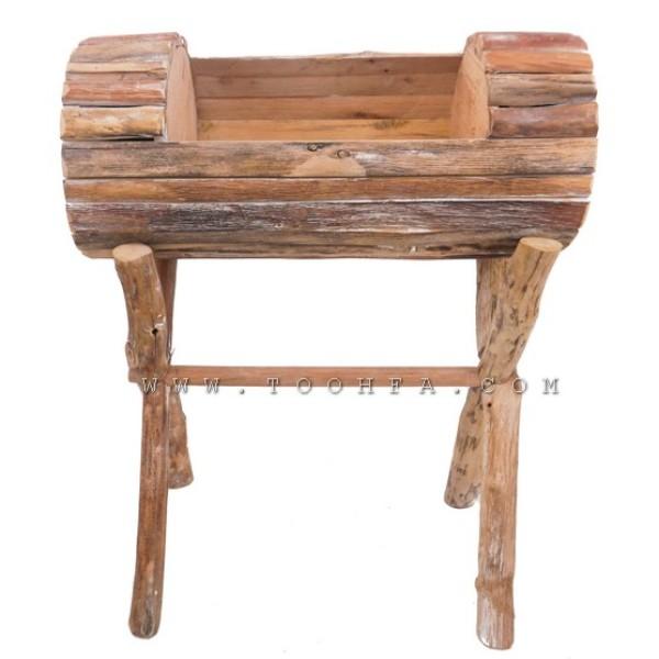 مركن ورد من الخشب الطبيعي
