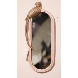مرآة مزينة بديكور ببغاء مقاسات GOLD, 10*10*32CM