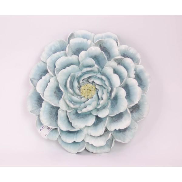 ديكور جداري وردة اللون أزرق مقاس  30.8*30*8.5CM