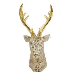 تحفة على شكل رأس أيل ذو قرون ذهبية