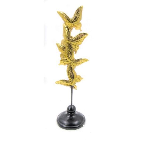 ديكور فراشات ذهبية. المقاس :10*10*34. المقاس :10*10*34
