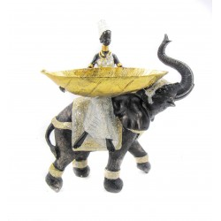 صحن الفيل و الرجل الأفريقي. المقاس :36*21*41. المقاس :36*21*41