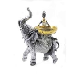 صحن الفيل و الرجل الأفريقي. المقاس :25*18*33. المقاس :25*18*33