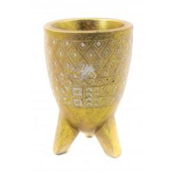 وعاء ذهبي طراز أفريقي. المقاس :10*10*16. المقاس :10*10*16