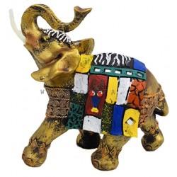 تحفة بشكل فيل أفريقي ملون
