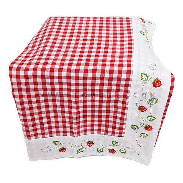 مفرش طاولة قماشي مقاس140*140